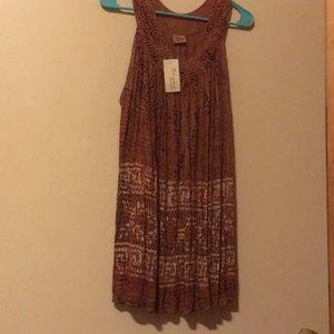 NWT Bohemian Mini Dress